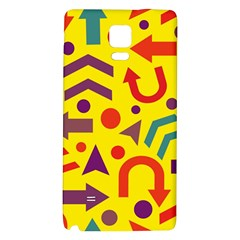 Yellow Direction Galaxy Note 4 Back Case by Valentinaart