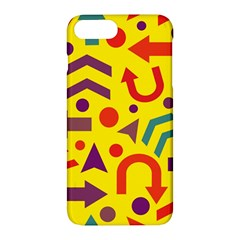Yellow Direction Apple Iphone 7 Plus Hardshell Case by Valentinaart