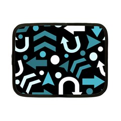 Cyan Direction  Netbook Case (small)  by Valentinaart