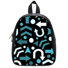 Cyan Direction  School Bags (small)  by Valentinaart