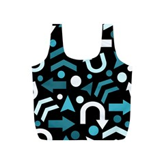 Cyan Direction  Full Print Recycle Bags (s)  by Valentinaart