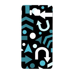 Cyan Direction  Samsung Galaxy Alpha Hardshell Back Case by Valentinaart