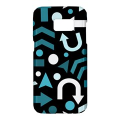 Cyan Direction  Samsung Galaxy S7 Hardshell Case  by Valentinaart