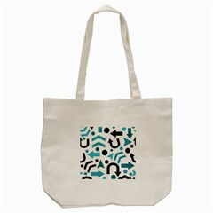 Cyan Direction Pattern Tote Bag (cream) by Valentinaart