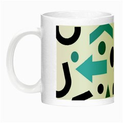 Cyan Direction Pattern Night Luminous Mugs by Valentinaart