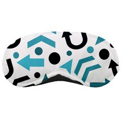 Cyan Direction Pattern Sleeping Masks by Valentinaart