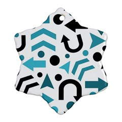 Cyan Direction Pattern Ornament (snowflake)
