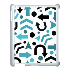 Cyan Direction Pattern Apple Ipad 3/4 Case (white) by Valentinaart