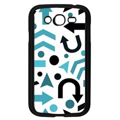 Cyan Direction Pattern Samsung Galaxy Grand Duos I9082 Case (black) by Valentinaart
