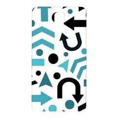 Cyan Direction Pattern Samsung Galaxy Note 3 N9005 Hardshell Back Case by Valentinaart