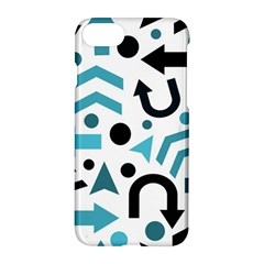 Cyan Direction Pattern Apple Iphone 7 Hardshell Case
