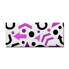 Magenta Direction Pattern Cosmetic Storage Cases