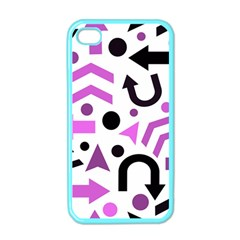 Magenta Direction Pattern Apple Iphone 4 Case (color) by Valentinaart