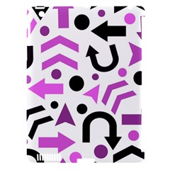 Magenta Direction Pattern Apple Ipad 3/4 Hardshell Case (compatible With Smart Cover) by Valentinaart