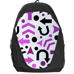 Magenta Direction Pattern Backpack Bag by Valentinaart