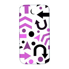 Magenta Direction Pattern Samsung Galaxy S4 I9500/i9505  Hardshell Back Case by Valentinaart