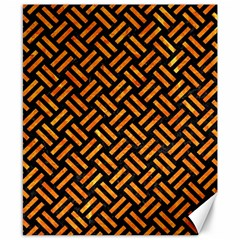 Woven2 Black Marble & Orange Marble Canvas 8  X 10  by trendistuff