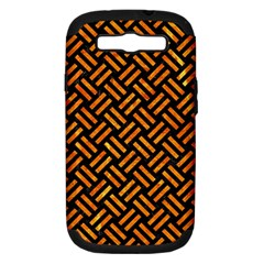 Woven2 Black Marble & Orange Marble Samsung Galaxy S Iii Hardshell Case (pc+silicone) by trendistuff