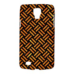 Woven2 Black Marble & Orange Marble Samsung Galaxy S4 Active (i9295) Hardshell Case by trendistuff