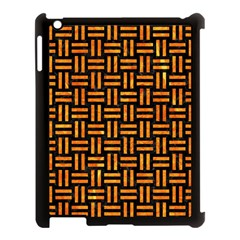 Woven1 Black Marble & Orange Marble Apple Ipad 3/4 Case (black) by trendistuff