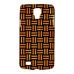 Woven1 Black Marble & Orange Marble Samsung Galaxy S4 Active (i9295) Hardshell Case by trendistuff