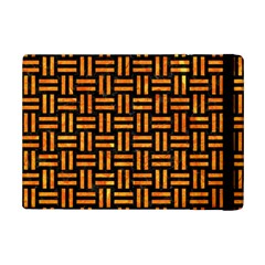 Woven1 Black Marble & Orange Marble Apple Ipad Mini 2 Flip Case by trendistuff