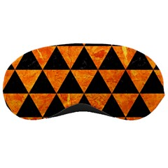 Triangle3 Black Marble & Orange Marble Sleeping Mask by trendistuff