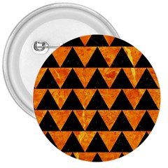 Triangle2 Black Marble & Orange Marble 3  Button by trendistuff