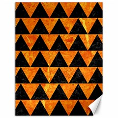 Triangle2 Black Marble & Orange Marble Canvas 12  X 16  by trendistuff