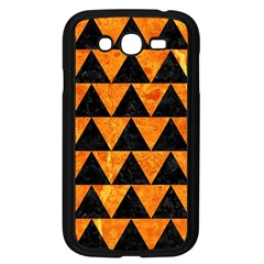 Triangle2 Black Marble & Orange Marble Samsung Galaxy Grand Duos I9082 Case (black) by trendistuff