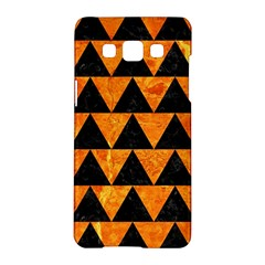 Triangle2 Black Marble & Orange Marble Samsung Galaxy A5 Hardshell Case  by trendistuff