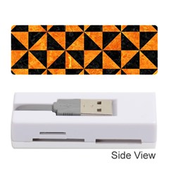 Triangle1 Black Marble & Orange Marble Memory Card Reader (stick) by trendistuff