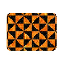 Triangle1 Black Marble & Orange Marble Double Sided Flano Blanket (mini) by trendistuff