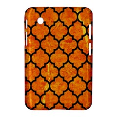 Tile1 Black Marble & Orange Marble (r) Samsung Galaxy Tab 2 (7 ) P3100 Hardshell Case  by trendistuff
