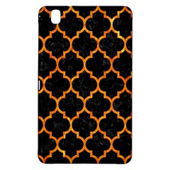 Tile1 Black Marble & Orange Marble Samsung Galaxy Tab Pro 8 4 Hardshell Case by trendistuff