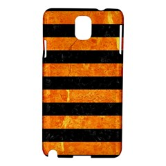 Stripes2 Black Marble & Orange Marble Samsung Galaxy Note 3 N9005 Hardshell Case by trendistuff