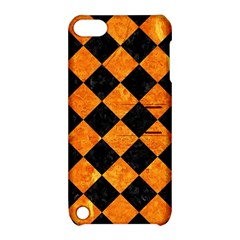 Square2 Black Marble & Orange Marble Apple Ipod Touch 5 Hardshell Case With Stand by trendistuff