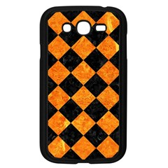 Square2 Black Marble & Orange Marble Samsung Galaxy Grand Duos I9082 Case (black) by trendistuff