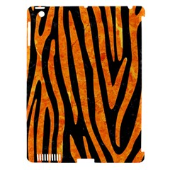Skin4 Black Marble & Orange Marble (r) Apple Ipad 3/4 Hardshell Case (compatible With Smart Cover) by trendistuff