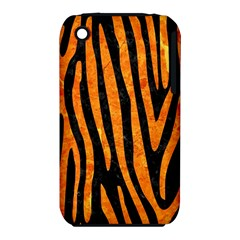 Skin4 Black Marble & Orange Marble (r) Apple Iphone 3g/3gs Hardshell Case (pc+silicone) by trendistuff
