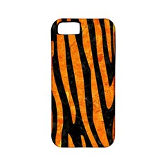 Skin4 Black Marble & Orange Marble (r) Apple Iphone 5 Classic Hardshell Case (pc+silicone) by trendistuff