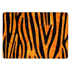 Skin4 Black Marble & Orange Marble Samsung Galaxy Tab 10 1  P7500 Flip Case by trendistuff