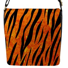 Skin3 Black Marble & Orange Marble (r) Flap Closure Messenger Bag (s) by trendistuff