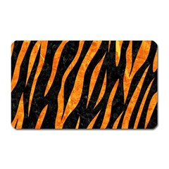 Skin3 Black Marble & Orange Marble Magnet (rectangular)