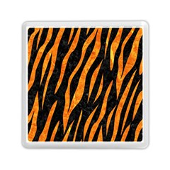 Skin3 Black Marble & Orange Marble Memory Card Reader (square) by trendistuff