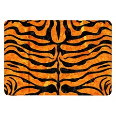 Skin2 Black Marble & Orange Marble (r) Samsung Galaxy Tab 8 9  P7300 Flip Case by trendistuff