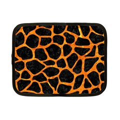 Skin1 Black Marble & Orange Marble (r) Netbook Case (small) by trendistuff
