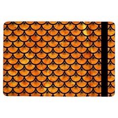 Scales3 Black Marble & Orange Marble (r) Apple Ipad Air Flip Case by trendistuff