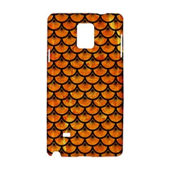 Scales3 Black Marble & Orange Marble (r) Samsung Galaxy Note 4 Hardshell Case by trendistuff