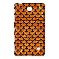 Scales3 Black Marble & Orange Marble (r) Samsung Galaxy Tab 4 (7 ) Hardshell Case  by trendistuff